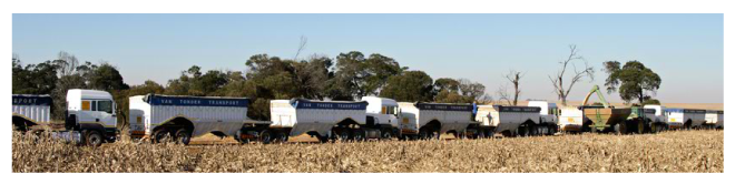 Van Tonder Trucks in Single file